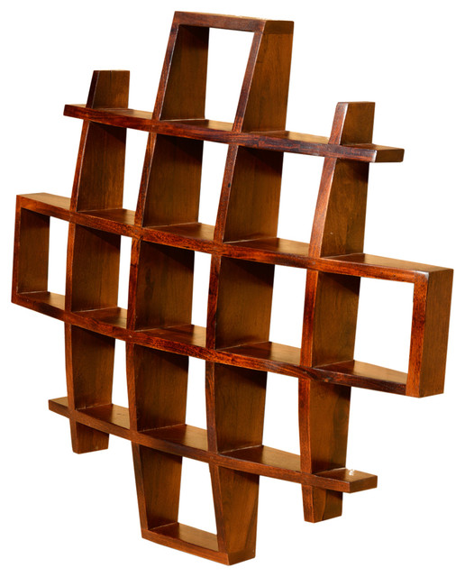 Contemporary Wood Display Wall Hanging Shelves Decor Curio Shadow Boxes Contemporary Display