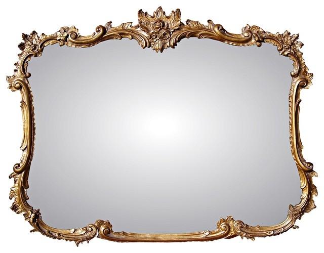 "Traditional Buffet 44"" Wide Antique Gold Rectangular Wall Mirror ..."