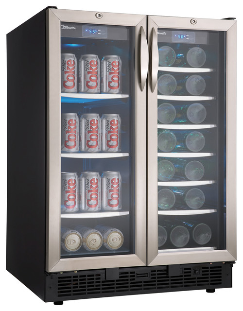 5 0 cu ft 27 bottle wine cooler beverage center for Modern homes 8 bottle wine cooler