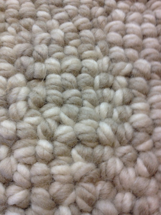 """Jumbo Twirl Wool Loop - Imagine a wool loop (using your choice of up to three colors) that is 7/8"""" tall!  Jumbo Twirl is shown in White/String/Straw.  Offered in both wall to wall carpet or area rugs.  Made in New Zealand of 100% wool.  Offered by Hemphill's Rugs & Carpets in Orange County, CA  - www.RugsAndCarpets.com"""