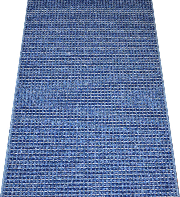 washable non skid carpet rug runner michelle blue 5 39 modern rugs by dean flooring. Black Bedroom Furniture Sets. Home Design Ideas