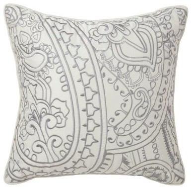Dalya 16L x 16W in. Paisley Pillow modern-bed-pillows