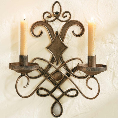 Rod Iron Wall Sconces : Wrought Iron Wall Sconce - Traditional - Wall Sconces - by Ballard Designs