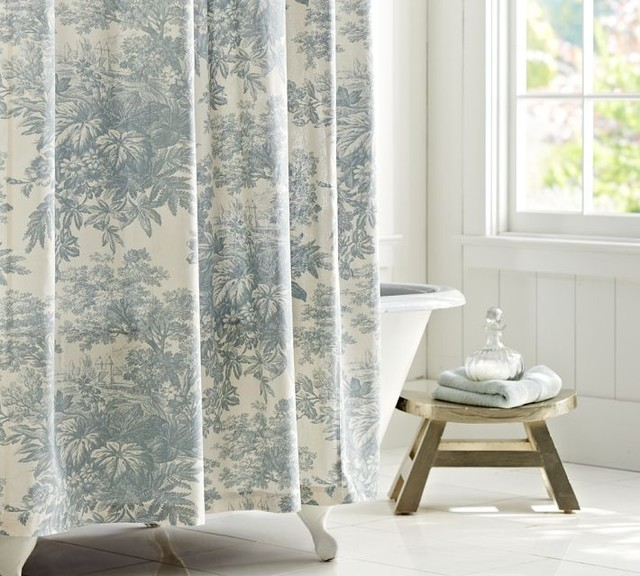 Matine Toile Shower Curtain - traditional - shower curtains - - by ...