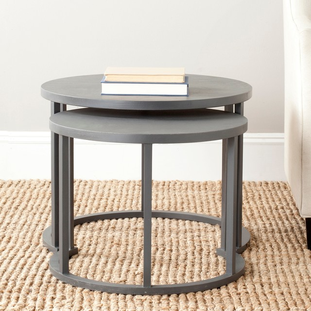 Contemporary Nesting Tables ~ Safavieh chindler nesting tables contemporary side