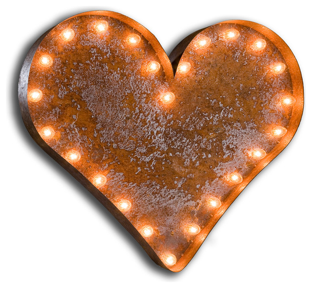 Vintage Marquee Lights-HEART eclectic-light-bulbs