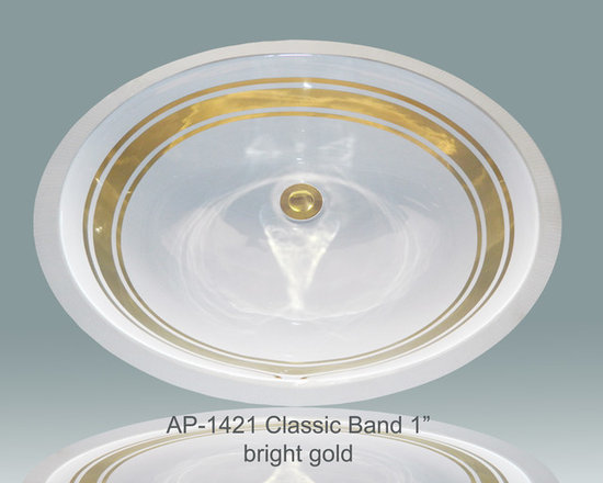 Hand Painted Gold & Patinum Undermounts by Atlantis Porcelain Art -