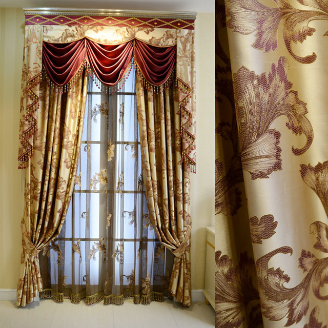 Customized Curtains in Golden Color midcentury-curtains
