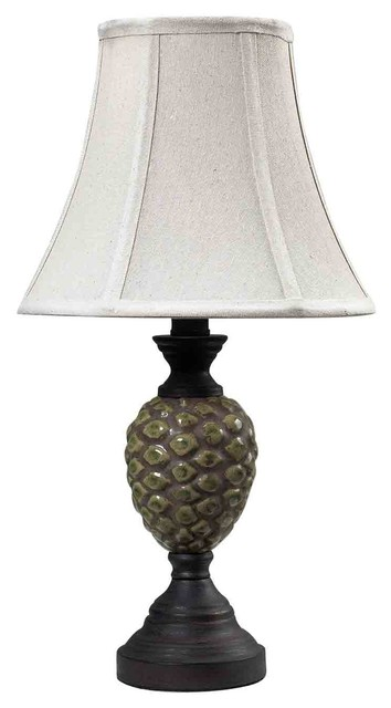 Dimond Lighting 113-1131 Wood Valley Aged Green Glaze Table Lamp contemporary-table-lamps