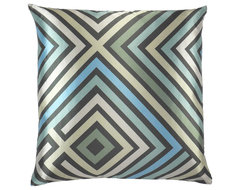 Maze Graphic Zigzag Throw Pillow modern pillows
