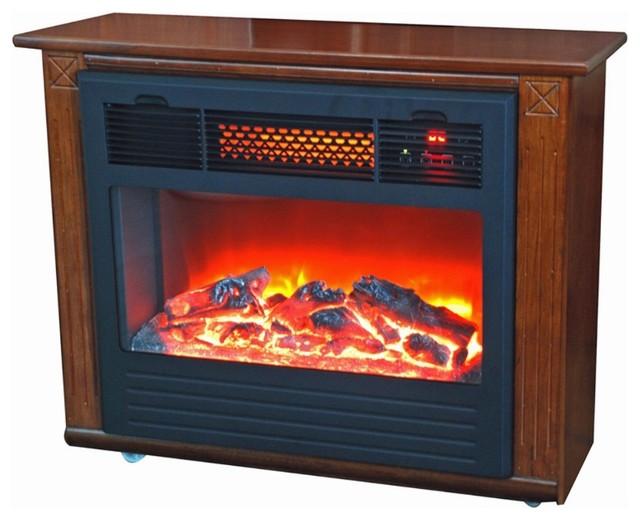 Lifesmart Infrared Quartz Compact Fireplace Dark Oak