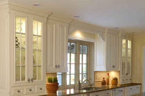 Lighting for Glass Cabinets traditional-kitchen