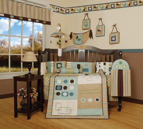 Boutique Baby Boy Artist 13 Piece Crib Bedding Set