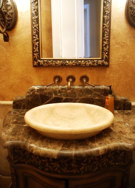 Powder Rm mediterranean-bathroom