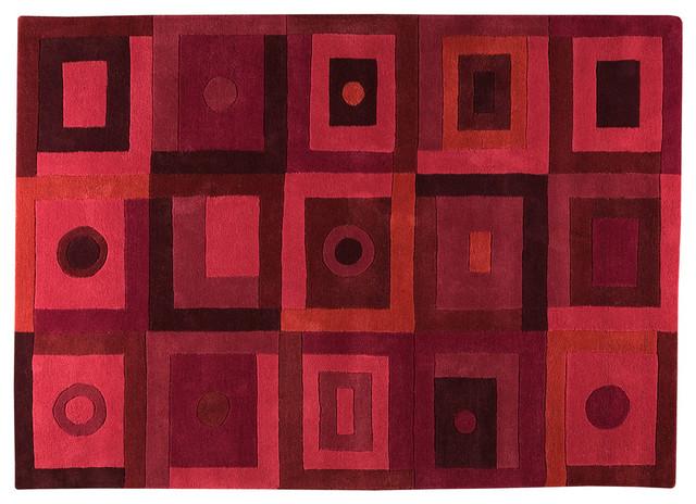Berlin Red Rug modern-rugs
