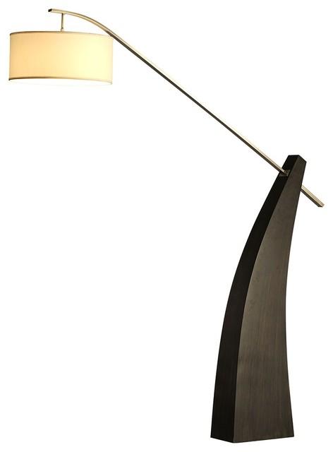 Nova Tusk Pecan Wood Floor Lamp Contemporary Floor Lamps