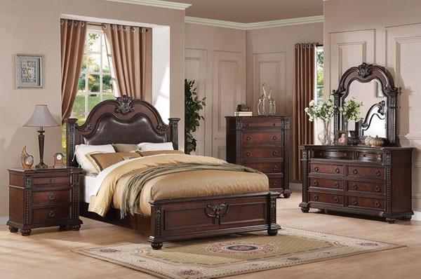 Acme Furniture Daruka Cherry Finish 5 Piece King Bedroom