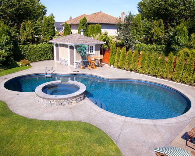 Vibrant freeform pool for Pool design vancouver