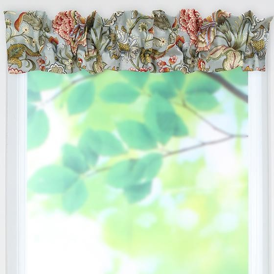 Custom sleeve topper valance traditional valances Home decorators collection valance