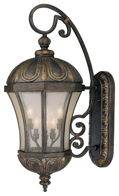 Ponce De Leon Wall Mount Lantern mediterranean-outdoor-wall-lights-and-sconces