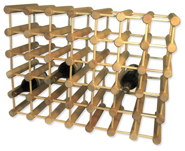 Modular wine rack 40 bottle natural modern wine racks by j k