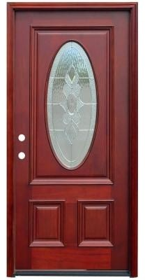 Pacific Entries Door. Traditional 3/4 Oval Stained ...