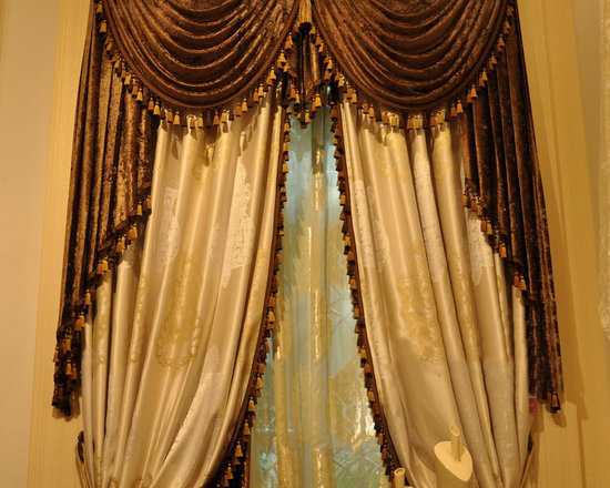 Customized Curtains in White Color -
