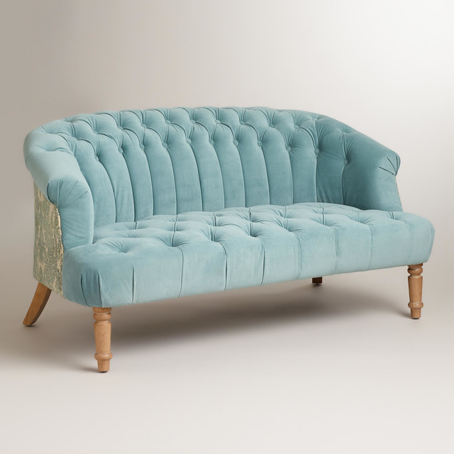 Loveseat Cuddle Couch Dark Brown Strathwood Wicker Curved Loveseat ...