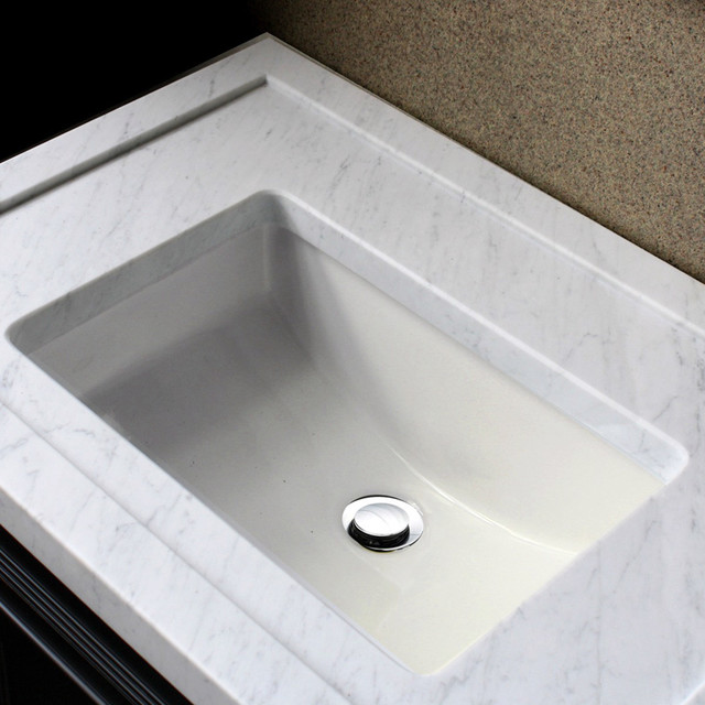 18 Inch Vanity With Sink : ... inch Undermount Vanity Sink - Bisque contemporary-bathroom-vanities