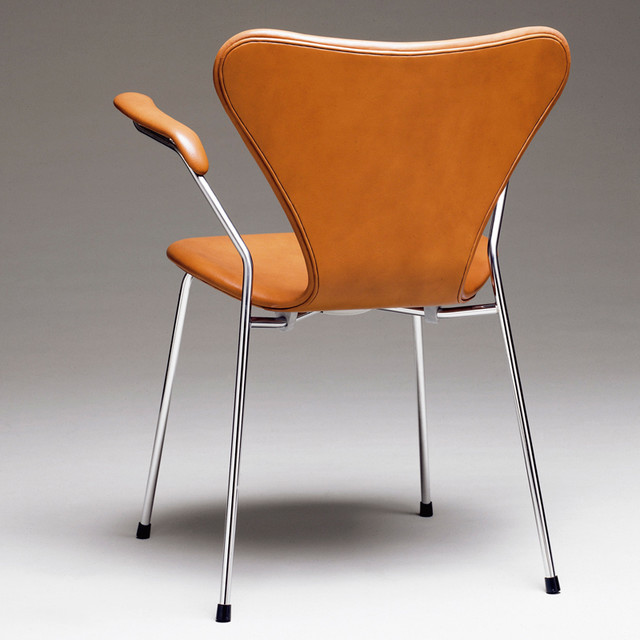 fritz hansen series 7 dining chair with arms modern