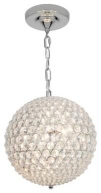 Access Lighting Kristal Ball Pendant - Chrome modern-ceiling-lighting