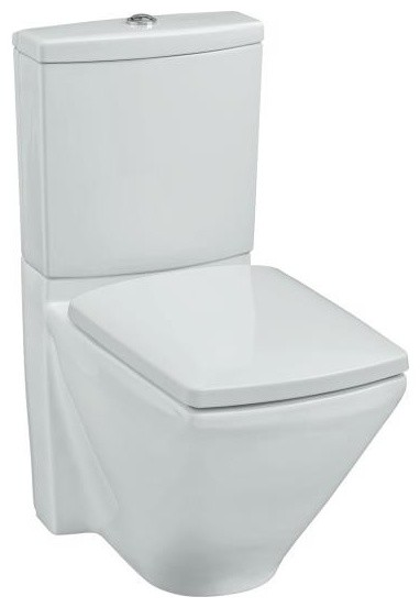 KOHLER K 3588 0 Escale Two Piece Elongated Toilet With Seat In White Tradit