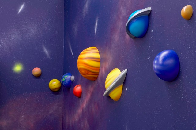Solar system wall art pics about space for Decoration 3d sol