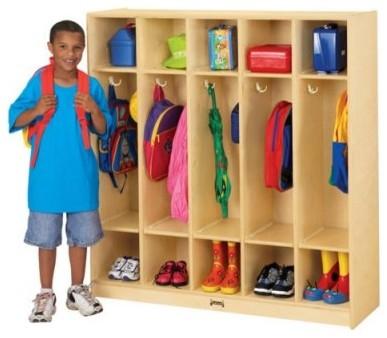Jonti-Craft Coat Locker - 5 Sections modern-kids-toys-and-games