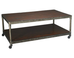 The Hammary Structure Rectangular Coffee Table has that industrial chic look eve contemporary coffee tables