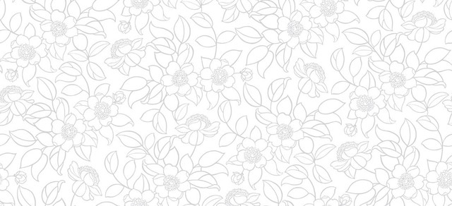 Carly retro floral wallpaper grey white contemporary for Gray and white wallpaper designs