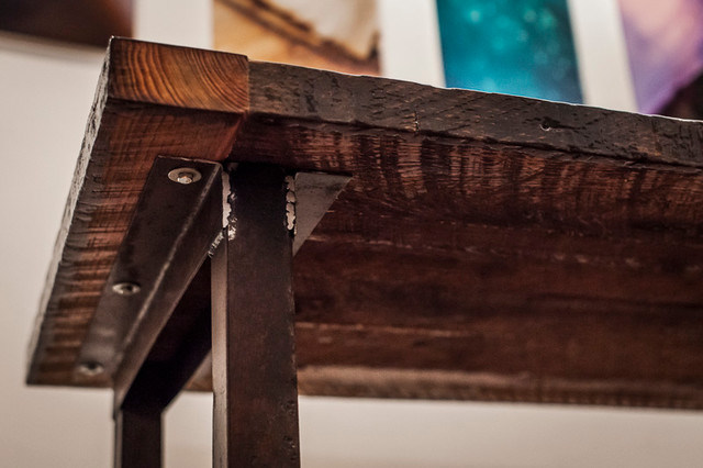 Reclaimed Dairy Lumber Farm Table eclectic-desks-and-hutches