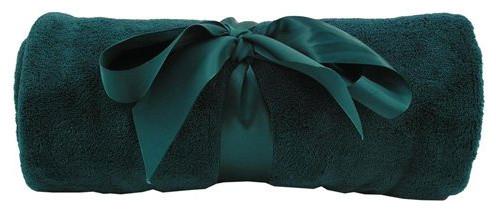Soft fleece blanket throw emerald green contemporary - Emerald green throw blanket ...