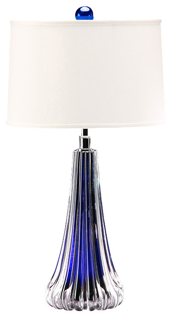 venetian glass table lamp cobalt blue traditional by. Black Bedroom Furniture Sets. Home Design Ideas