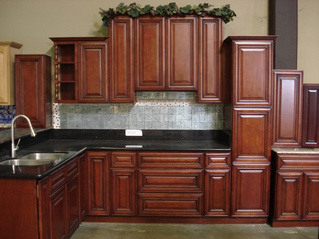 Cherry Rope Kitchen Cabinets Home Design Traditional Kitchen Cabinetry