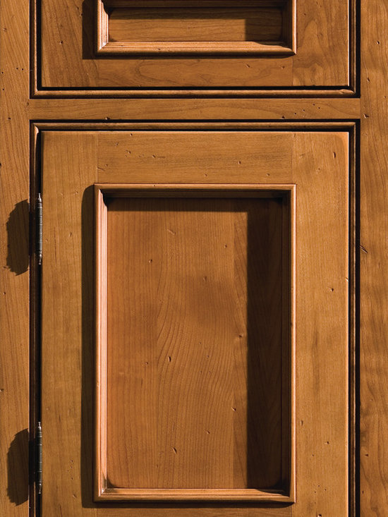 """Dura Supreme Cabinetry - Dura Supreme Cabinetry Chapel Hill Panel Inset Cabinet Door Style - Dura Supreme Cabinetry """"Chapel Hill Panel"""" inset cabinet door style in Cherry shown with Dura Supreme's """"Heirloom L"""" finish. (With beaded frame)"""