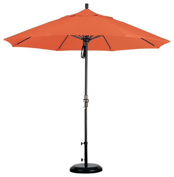 Fiberglass 9-foot Pacifica Tuscan Crank and Tilt Umbrella - Contemporary - Outdoor Umbrellas ...