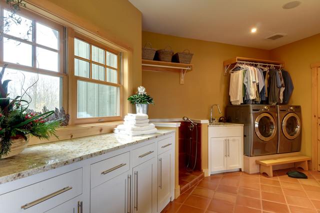 Pineridge Saltillo Laundry Room wall-and-floor-tile