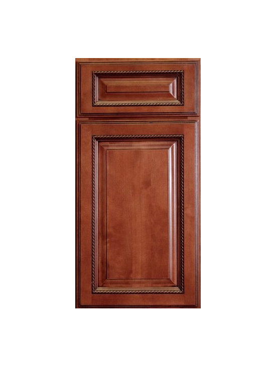"SIENNA ROPE / Assembled Kitchen Cabinets - Full Overlay Door Style - 3/4"" Solid Birch Face-Frame"