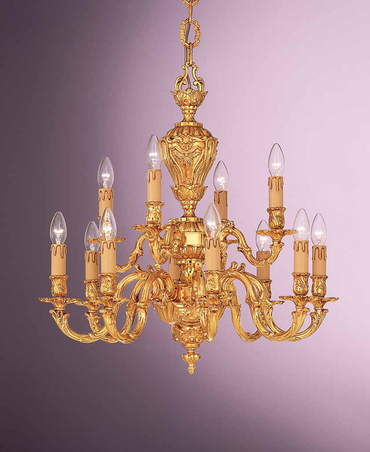 Brass chandeliers and light elements OR/602 traditional-chandeliers