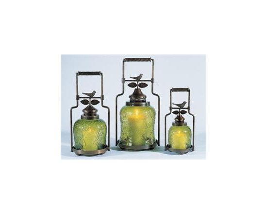 Nested Bird Candle Lanterns - 3 lantern set -
