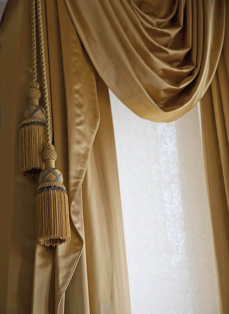 Asian Style Window Treatments http://www.houzz.com/photos/550117/Victorian-style-window-treatments-in-bronze-satin-fabric-with-tassels-and-swags-traditional-curtains-san-francisco