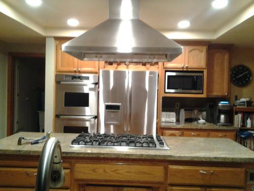 Countertop Drop In Stove : Replacing a drop in cooktop with a range top in a granite countertop.