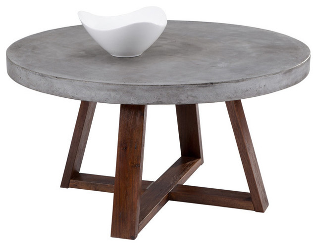 ... Devons Rustic Concrete Round Coffee Table scandinavian-coffee-tables