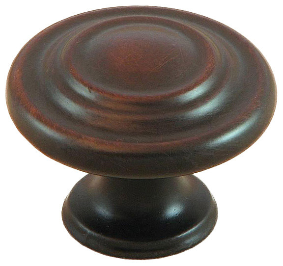Stone Mill Oil Rubbed Bronze Three-ring Cabinet Knobs (Pack of 5) - Contemporary - Bathroom ...